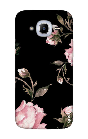 Pink Roses On Black Samsung J2 2016 Cases & Covers Online