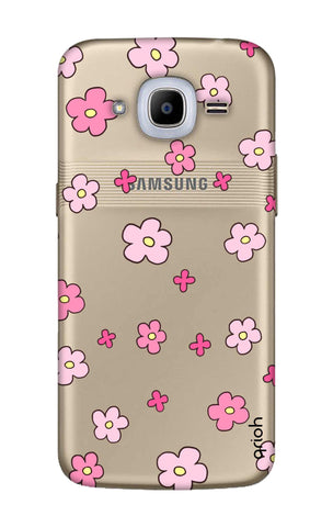 Pink Flowers All Over Samsung J2 2016 Cases & Covers Online