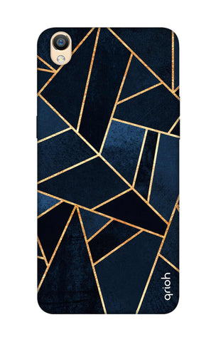 Abstract Navy Oppo F1 Plus Cases & Covers Online