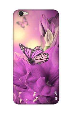 Purple Butterfly Vivo V5S  Cases & Covers Online