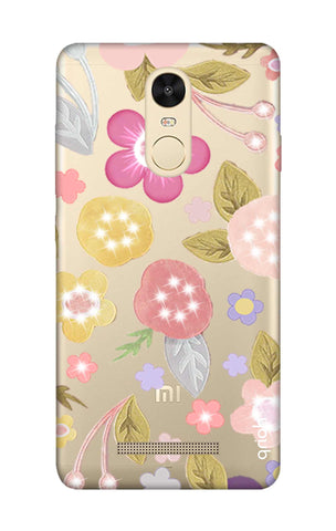 Multi Coloured Bling Floral Xiaomi Redmi Note 3 Cases & Covers Online