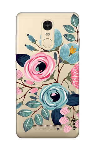 Pink And Blue Floral Xiaomi Redmi Note 3 Cases & Covers Online