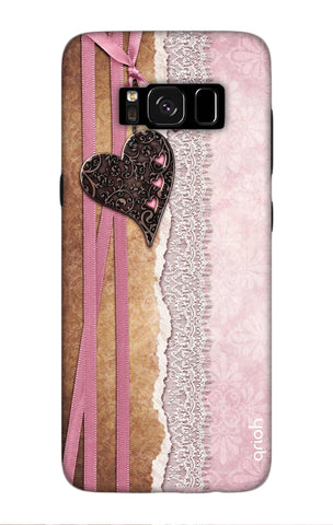 Heart in Pink Lace Samsung S8 Cases & Covers Online