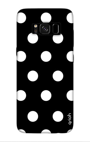 White Polka On Black Samsung S8 Plus Cases & Covers Online