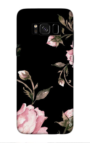 Pink Roses On Black Samsung S8 Plus Cases & Covers Online