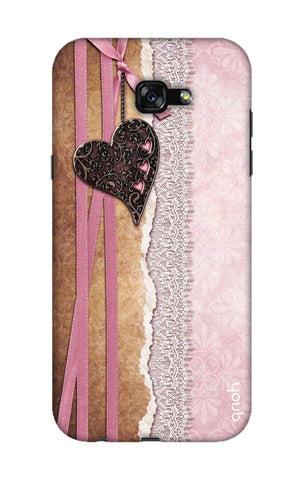 Heart in Pink Lace Samsung A7 2017 Cases & Covers Online