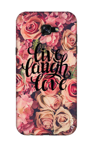 Floral Live, Laugh, Love Samsung A7 2017 Cases & Covers Online