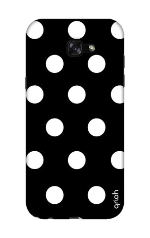 White Polka On Black Samsung A7 2017 Cases & Covers Online
