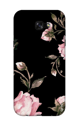 Pink Roses On Black Samsung A7 2017 Cases & Covers Online