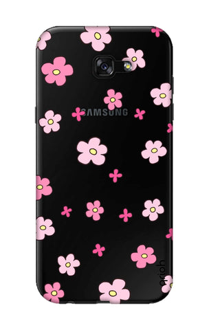 Pink Flowers All Over Samsung A7 2017 Cases & Covers Online
