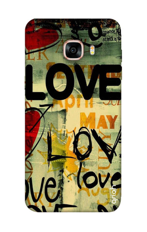 Love Text Samsung C7 Pro Cases & Covers Online