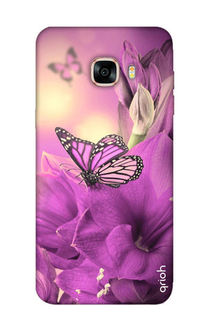 Purple Butterfly Samsung C7 Pro Cases & Covers Online