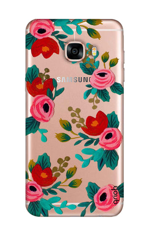 Red Floral Samsung C7 Pro Cases & Covers Online