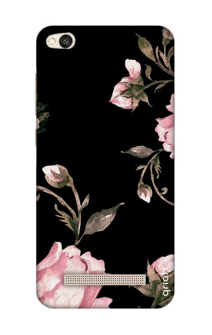 Pink Roses On Black Xiaomi RedMi 4A Cases & Covers Online