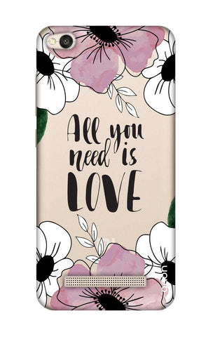 All You Need is Love Xiaomi RedMi 4A Cases & Covers Online