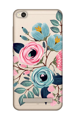 Pink And Blue Floral Xiaomi RedMi 4A Cases & Covers Online
