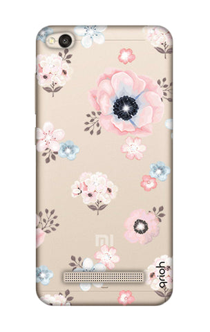 Beautiful White Floral Xiaomi RedMi 4A Cases & Covers Online