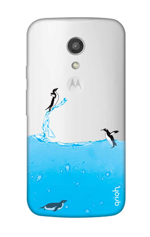 Penguins In Water Motorola Moto G2 Cases & Covers Online