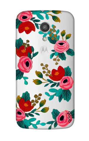 Red Floral Motorola Moto G2 Cases & Covers Online