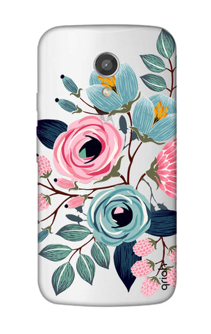 Pink And Blue Floral Motorola Moto G2 Cases & Covers Online