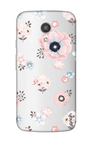 Beautiful White Floral Motorola Moto G2 Cases & Covers Online