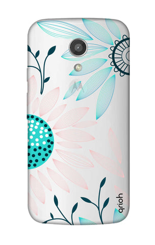 Pink And Blue Petals Motorola Moto G2 Cases & Covers Online