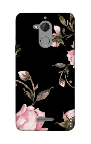Pink Roses On Black Coolpad Note 5 Cases & Covers Online