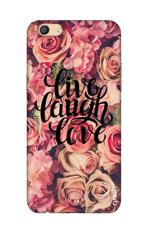 Floral Live, Laugh, Love Oppo F3 Cases & Covers Online