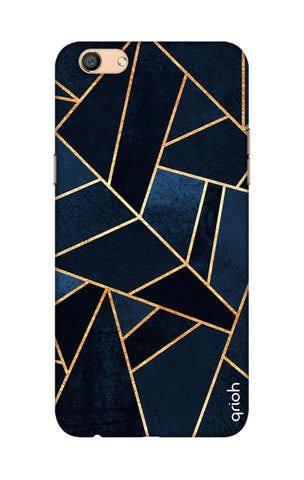Abstract Navy Oppo F3 Cases & Covers Online