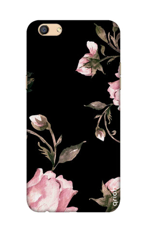 Pink Roses On Black Oppo F3 Cases & Covers Online