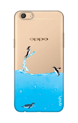 Penguins In Water Oppo F3 Cases & Covers Online