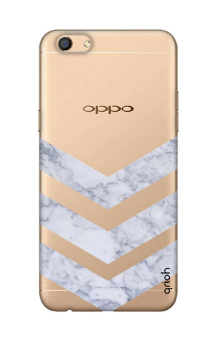Marble Chevron Oppo F3 Cases & Covers Online