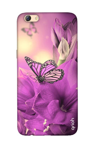 Purple Butterfly Oppo F3 Plus Cases & Covers Online