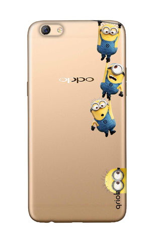 Falling Minions Oppo F3 Plus Cases & Covers Online