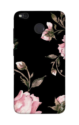 Pink Roses On Black Xiaomi RedMi 4 Cases & Covers Online