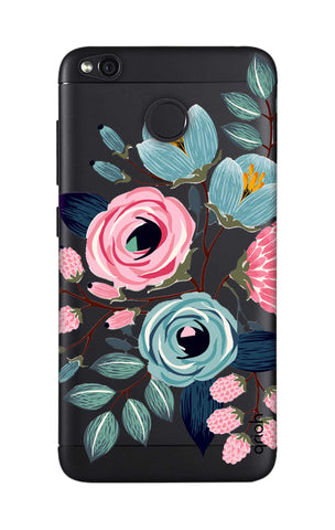 Pink And Blue Floral Xiaomi RedMi 4 Cases & Covers Online
