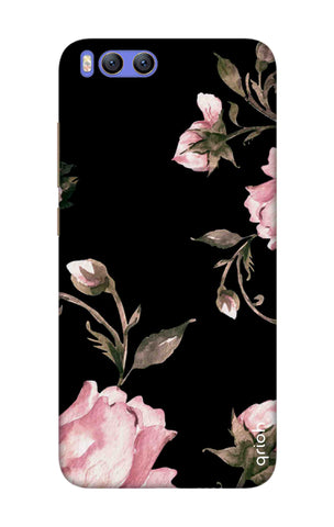 Pink Roses On Black Xiaomi Mi 6 Cases & Covers Online