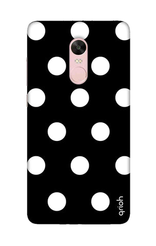 White Polka On Black Xiaomi RedMi Note 4X Cases & Covers Online