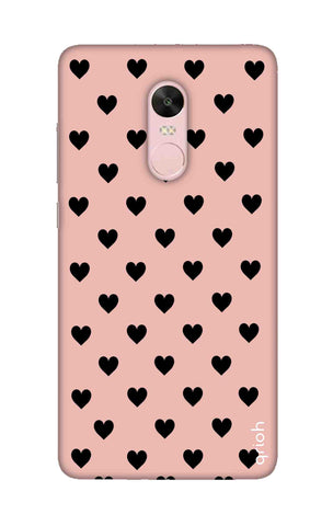 Black Hearts On Pink Xiaomi RedMi Note 4X Cases & Covers Online