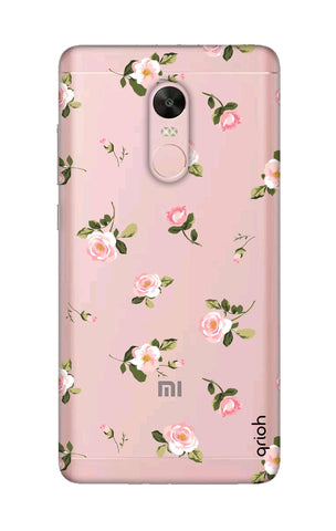 Pink Rose All Over Xiaomi RedMi Note 4X Cases & Covers Online