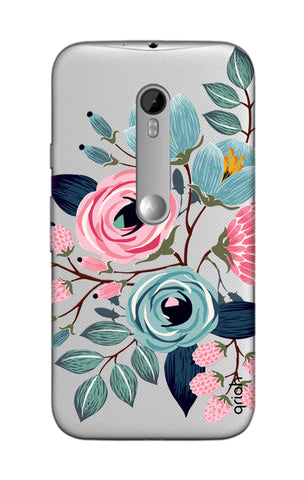 Pink And Blue Floral Motorola Moto G3 Cases & Covers Online