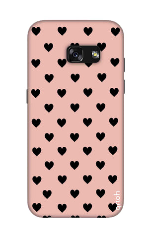 Black Hearts On Pink Samsung A3 2017 Cases & Covers Online