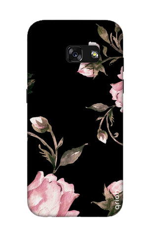 Pink Roses On Black Samsung A3 2017 Cases & Covers Online