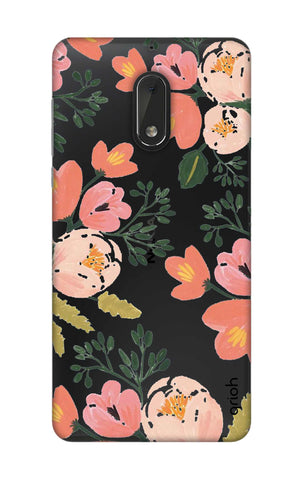 Painted Flora Nokia 6 Cases & Covers Online