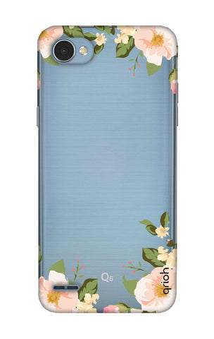 Flower In Corner LG Q6 Cases & Covers Online