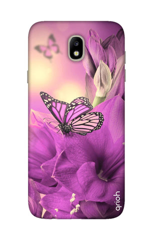 Purple Butterfly Samsung J7 Pro Cases & Covers Online