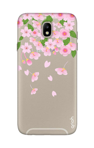 Pretty Pink Floral Samsung J7 Pro Cases & Covers Online