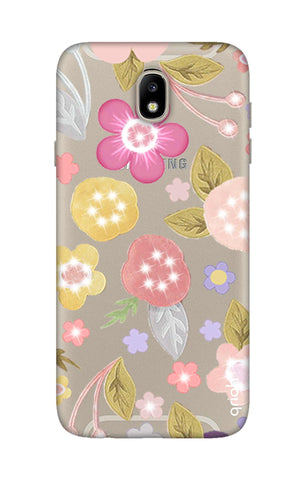 Multi Coloured Bling Floral Samsung J7 Pro Cases & Covers Online