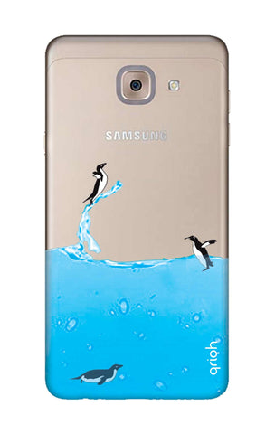 Penguins In Water Samsung J7 Max Cases & Covers Online
