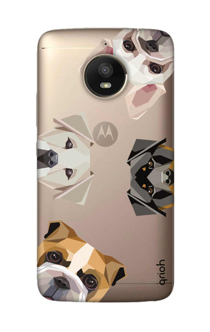 Geometric Dogs Motorola Moto E4 Plus Cases & Covers Online